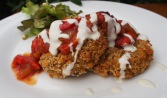 One of our most popular production items - chickpea and brown rice patties.