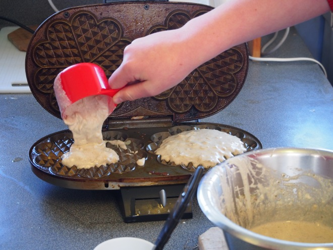 Filling the Waffle Irons