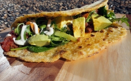 With the addition of a little psyllium husk these corn tacos turn out delicious and naturally gluten free.