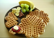 Waffles are a great breakfast food, and can be made from many gluten free wholegrains such as buckwheat, rice, quinoa, millet and corn.