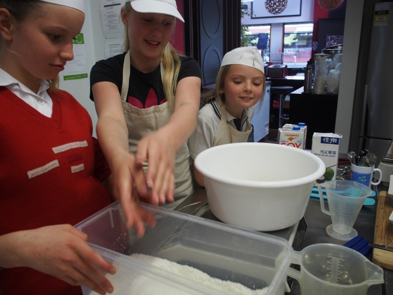 Weighing Ingredients for Macaruffles