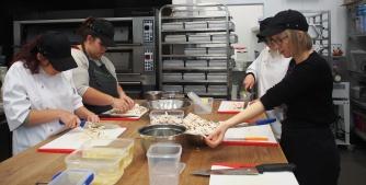 Learning knife skills on mushrooms