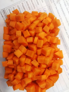 Macedoine of carrot